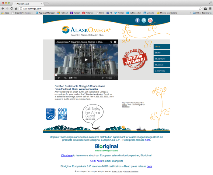 AlaskOmega Website - Home