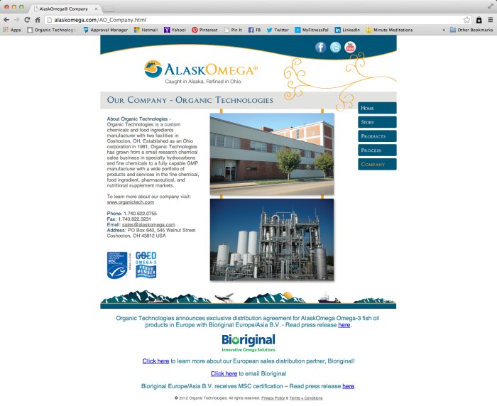 AlaskOmega Website - Contact