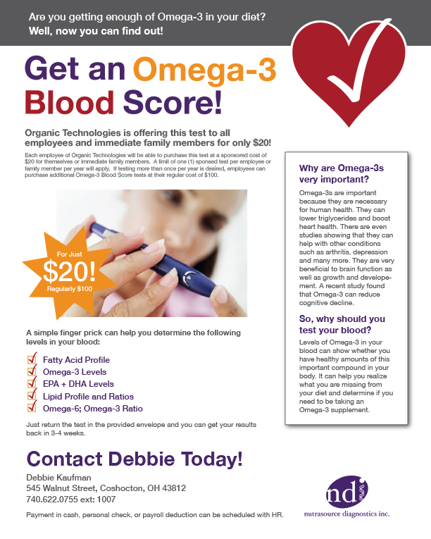 Omega-3 Blood Test Flyer