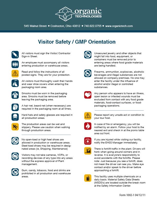 Company Safety Form