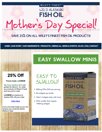 Mother's Day Email Blast