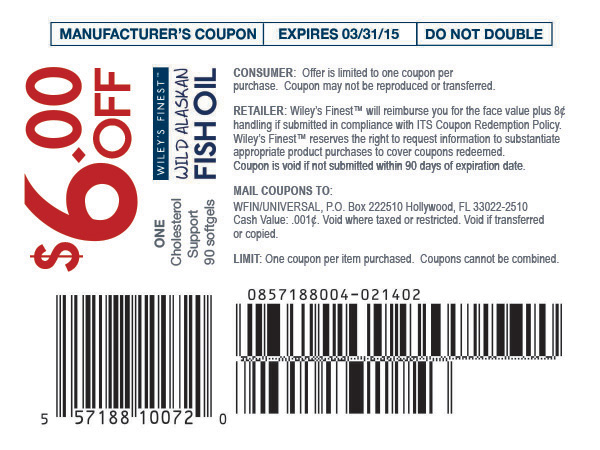Wiley's Finest Product Coupon Design