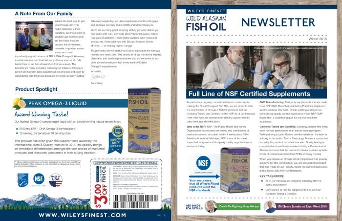 Wiley's Finest February Newsletter Design